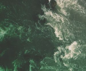 green, aesthetic, and waves image