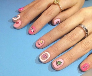 nails, girly, and nail art image
