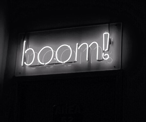 black, boom, and neon image