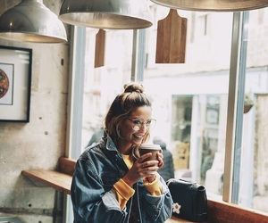 zoella, coffee, and youtube image
