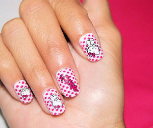 dots, cute, and hello kitty image