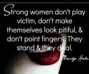 strong, woman, and words image