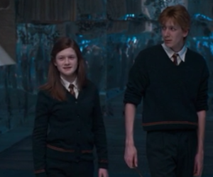 ginny weasley, harry potter, and ron weasley image