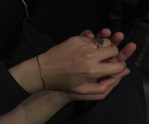 couple, hands, and dark image