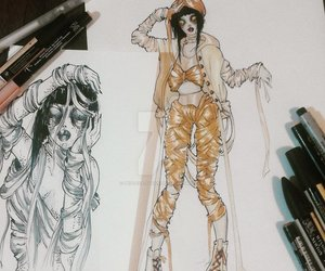 art, ink, and characterdesign image