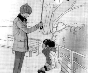 couple, manga, and rain image