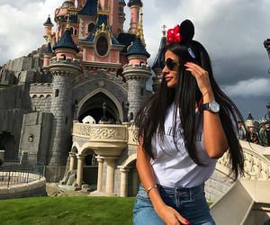 beauty, brunette, and disney image