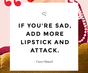 quotes, coco chanel, and lipstick image