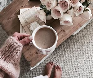 coffee, cozy, and roses image