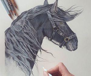 art, black, and sketchbook image