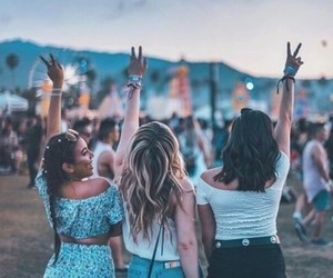 coachella, girl, and friends image