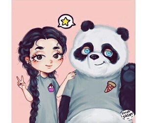 panda and drawing image