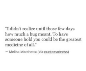 quotes, hug, and medicine image