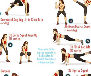 home, leg workouts, and women image