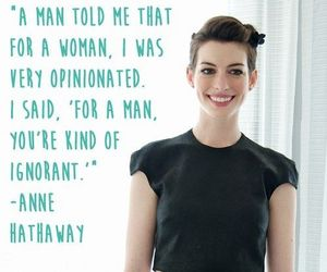 Anne Hathaway, feminism, and woman image
