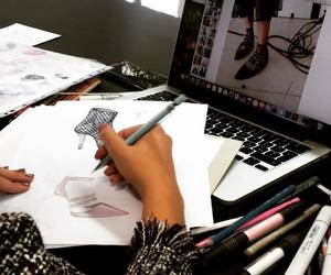 costura, dibujo, and dressmaker image