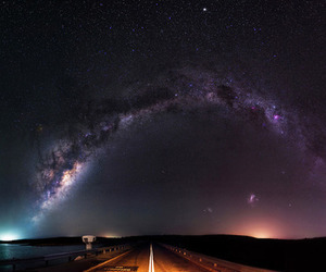 stars, road, and sky image
