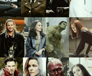 black widow, Hulk, and ironman image