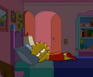 simpsons, sad, and lisa image