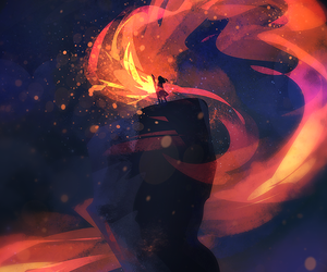 art, fire, and magical image