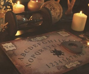 candle, ouija, and witch image