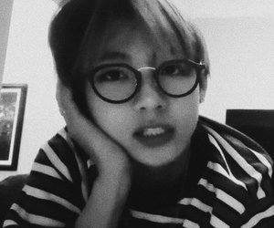 bts, taehyung, and black and white image