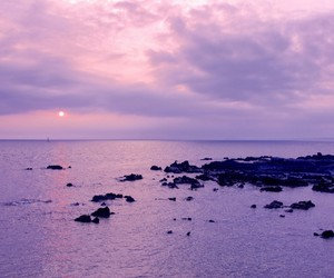 sky, purple, and ocean image