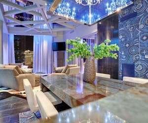 blue, design, and interior image