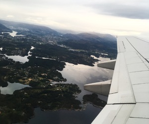 airplane, nature, and plane image