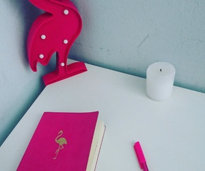candle, cool, and flamingo image