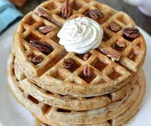 waffles, food, and sweet image