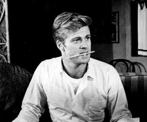 robert redford and black and white image