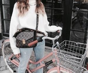 fashion, indie, and bike image
