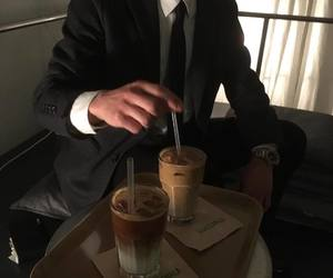 coffee, boy, and elegance image