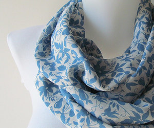 etsy, fashion accessories, and blue floral scarf image