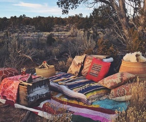 hippie, picnic, and romantic image