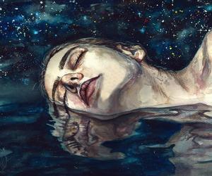 gif, art, and stars image