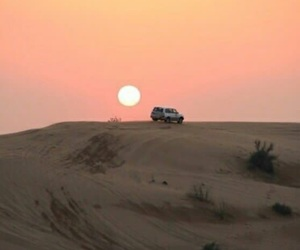 moon, sand, and scenery image