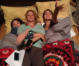 the fosters, teri polo, and maia mitchell image