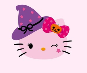 background, Halloween, and hello kitty image