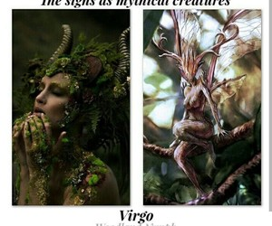 astronomy, mythical creature, and virgo image