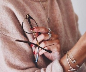 fashion, glasses, and style image