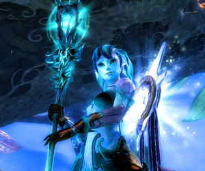 guild wars 2, blue, and mmo image