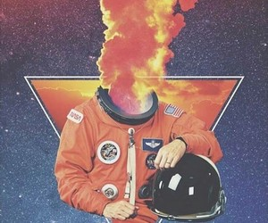 astronaut, space, and aesthetic image