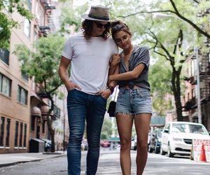 boyfriend, couple, and walking image