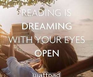 wattpad, book, and dreaming image