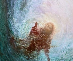 jesus, god, and water image