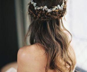 hair, wedding, and braid image