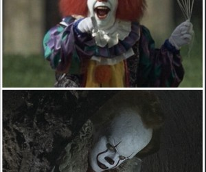 clown, it, and Tim Curry image