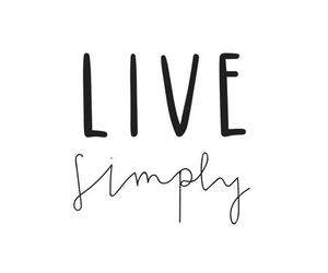 minimalist, live simply, and cute image